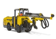 Atlas Copco Boomer T1 face drilling rig for underground mining applications.