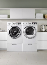 Front-load washers and dryers save money on energy and water over time.