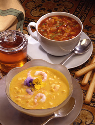 Honey is a great way to add a little sweetness to your soup dishes.