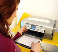 Think twice before you hit the print button at work. It can save money and the environment.