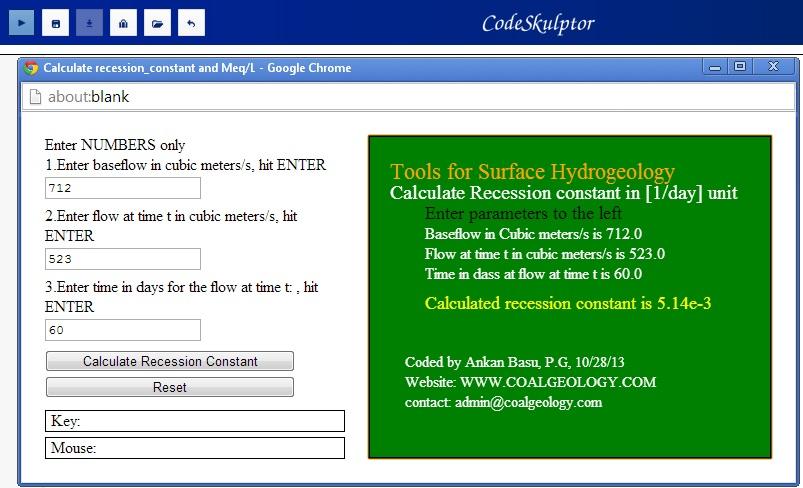 Recession Constant Calculator GUI in Python